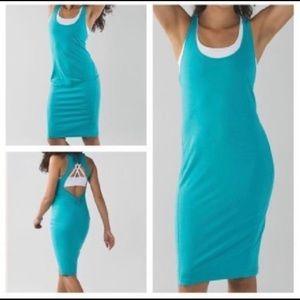 Lululemon Cut Out Go For It Dress Blue